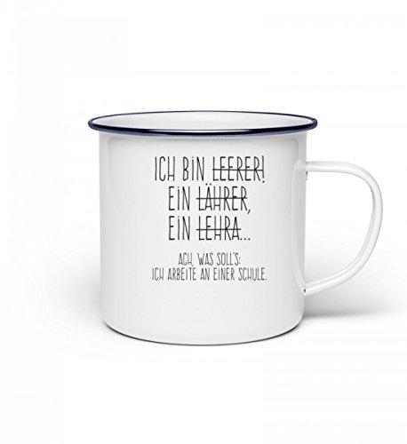 Chorchester Hochwertige Emaille Tasse - Perfekt für jeden Lehrer!