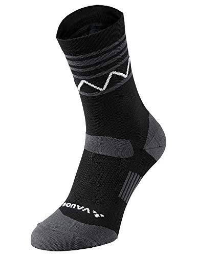 VAUDE Strümpfe Bike Socks Mid, Socke für Rad- und Bergsport, black/white, 39-41, 401350610390