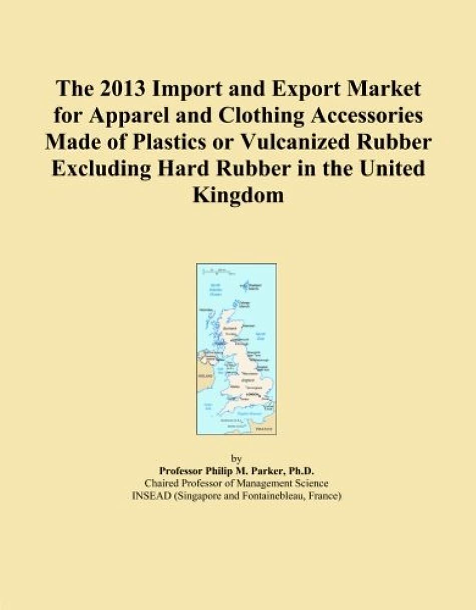 宿題ズーム四半期The 2013 Import and Export Market for Apparel and Clothing Accessories Made of Plastics or Vulcanized Rubber Excluding Hard Rubber in the United Kingdom