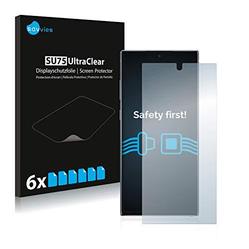savvies 6-Pezzi Pellicola Protettiva Compatibile con Samsung Galaxy Note 10 Plus   5G Protezione Schermo Trasparente