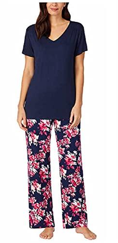 Carole Hochman Midnight Women's 2 Piece Super Soft Pajama Set (Dark Blue, Large)