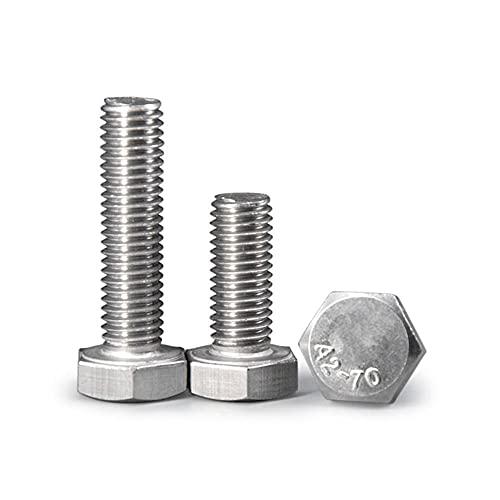 (1pcs) 304 tornillo hexagonal de acero inoxidable, M20m24, tornillos hexagonales largos-M20 * 120 (1pcs)