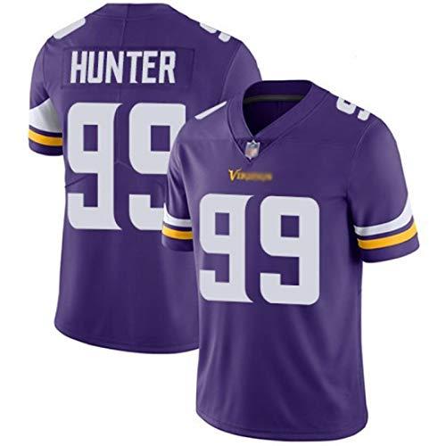 ILHF Hunter 99# Hombres Rugby Jersey, VikingsAmerican-Football Sportswear Camiseta al Aire Libre Fitness Casual Top,Púrpura,XL
