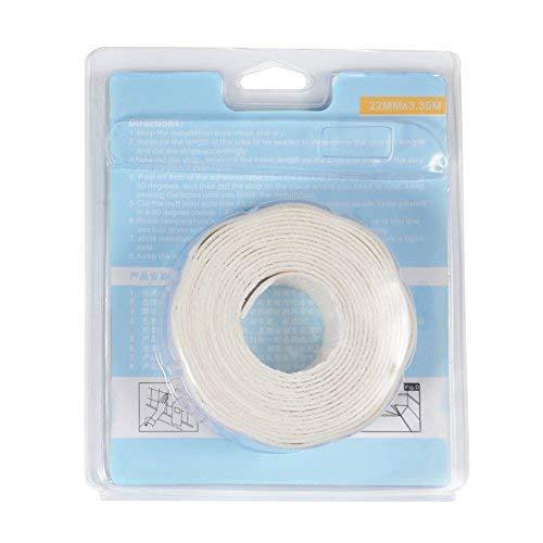 キッチン用防カビテープ 防水テープ 補修用テープ キッチン/バスルーム/トイレ用 コーナー/隙間に対応 PE防水素材 幅3.8cm/2.2cm 長さ3.35m 2点入り
