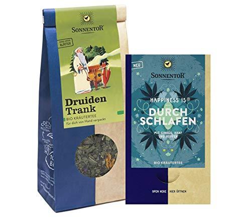 Sonnentor bio Tee Set: Durchschlafen Teebeutel+ Druidentrank Kräutertee lose (50g) BIO-AT-301
