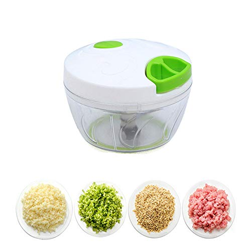 GU YONG TAO Mini Hachoir Manuel - Processeur de légumes Portable, mélangeur Compact pour hacher Les Fruits/légumes pour Le Salade de Chou, l'ail, l'oignon et la Viande, Vert