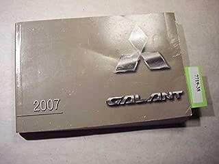 2007 Mitsubishi Galant Owners Manual Guide Book