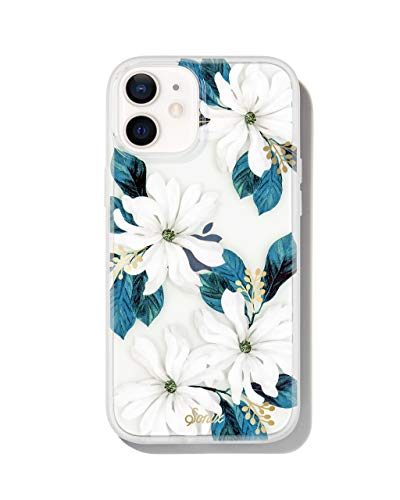 Sonix Delilah Flower Case for iPhone 12 / 12Pro [10ft Drop Tested] Women's Protective White Floral Clear Cover for Apple iPhone 12, iPhone 12 Pro