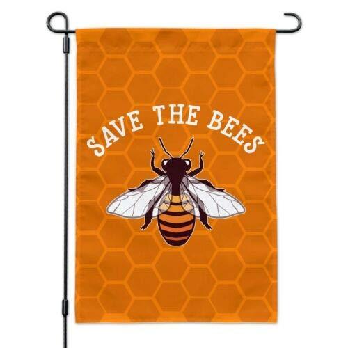 Dom576son Seizoensgebonden Tuinvlag, 28 x 40 Inch Buitenvlag, Tuin Banner, Bewaar de Bijen Honing Tuinwerf Vlag