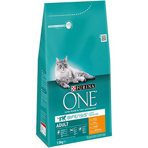 Purina One - Gato Adulto rico en Pollo y Cereales Integrales, 1,5 Kg ✅