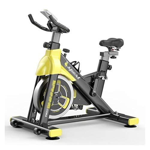 GFSD Spin Bike, Trasmissione A Cinghia for Interni, Stazionario Cyclette Silenziosa Stazionaria for Home Gym con Monitor Digitale, Peso del Cuscinetto: 150 kg