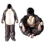 Wearable Sleeping Bag 3 Season Bear-Shaped Sleeping Bag for Camping Adults Full Body Sleep Pouch,M