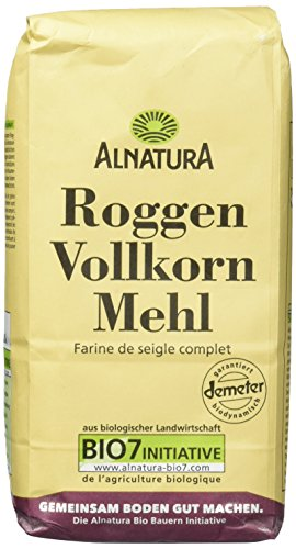 Alnatura Bio Roggenvollkornmehl, 6er Pack (6 x 1000 g)