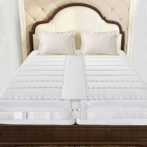Auckpure Liebesbrücke, Liebesbrücke für Matratzen 200x20 cm, Zwei Miteinander Verbundene Bequeme Matratzen, Lückenfüllung, Kugelsicherer Matratzenkeil, Doppelt Fixiert, Leicht zu Schlafen