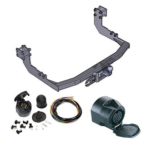 AHK Anhängerkupplung mit Elektrosatz 13 polig für Mercedes Sprinter / VW LT 28-35 95-06 Anhängevorrichtung Hängevorrichtung - starr, mit angeschraubtem Kugelkopf