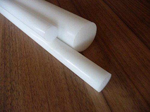 Teflon PTFE Rundstab weiß, Ø 10 mm - 50 mm, Wunschlänge alt-intech® (Ø 15 mm, 300 mm)