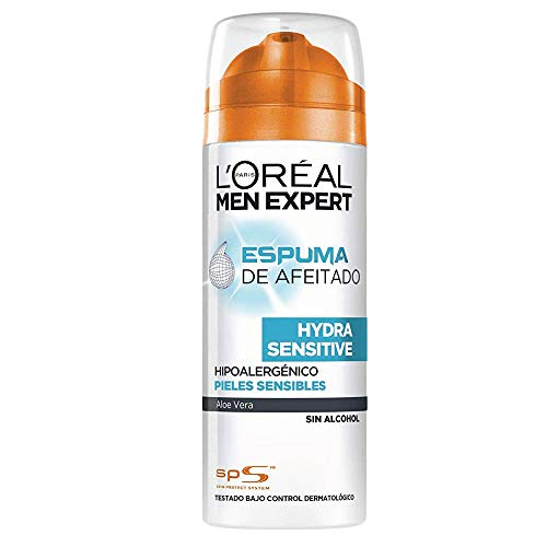 L\'Oréal Paris Men Expert Hydra Sensitive Espuma de Afeitar para Pieles Sensibles - 200 ml