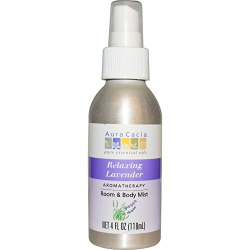 Aura Cacia, Aromatherapy Room & Body Mist, Relaxing Lavender, 4 fl oz (118 ml) - 2pc
