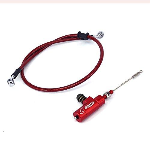 Rojo universal CNC embrague hidráulico Slave cilindro tirador con 1200 mm freno radiador...