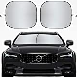Kribin 2 Pack Car Windshield Sun Shade - 28'' x 32'' Foldable Sunshade for UV Protection and Heat Reflector - Keep Your Vehicle Cool