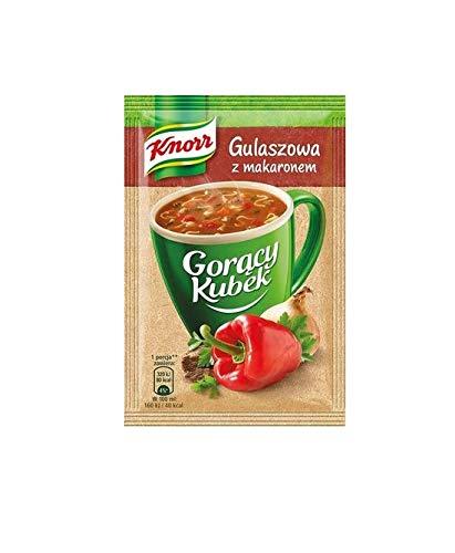 Heiße Tasse Gulaschsuppe mit Nudeln 16g von Knorr I Polnische Suppen & Fonds