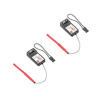 GoolRC FlySky FS-R6B 2.4Ghz 6CH Receiver for FlySky TH9X FS-CT6B FS-T6 Transmitter-2 Pcs