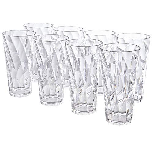 Optix 26-ounce Clear Plastic Cups, Set of 8
