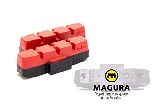 2 Stück MAGURA Original Bremsbelag hydraulische Felgenbremse HS11 22 24 33 66 rot