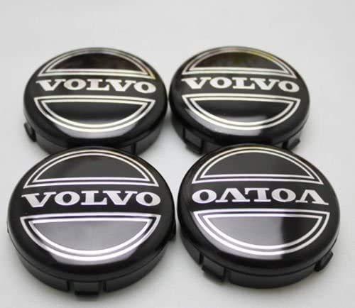 Seayahy 4 Stück Leichtmetallfelge Hub Cap,Felgendeckel Radkappen,Staubdicht Radnabendeckel,Nabenkappen für Volvo C70 S60 V60 V70 S80 XC90,Auto-Styling-Zubehör