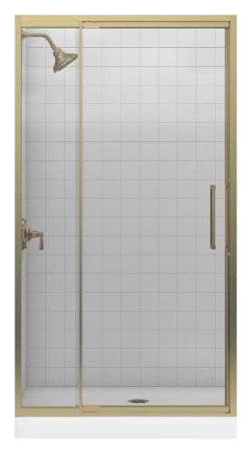 Best Price Kohler K-705820-L-ABV Lattis 3/8 Pivot Door, Anodized Brushed Bronze