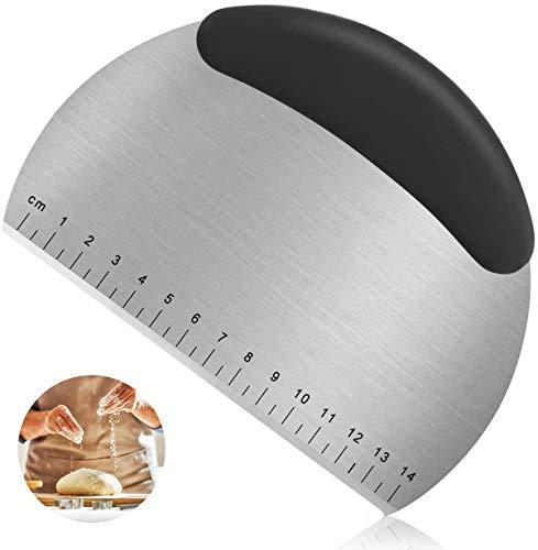 NoBrand Grattoir en Acier Inoxydable avec échelle Grattoir Coupe-pâte Multi-Usage Cutter pour Couper la pâte de Pain