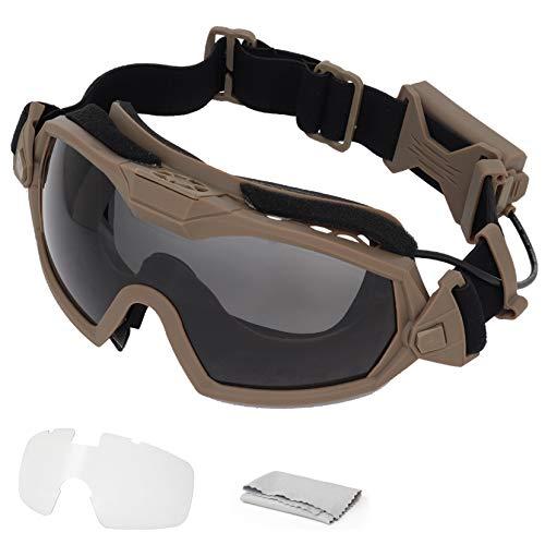WISEONUS Fan Version Cooler Tactical Airsoft Paintball Gafas Regulador Gafas Protectoras para Snowboard Esquí Caza Tiro Bicicleta Deportes