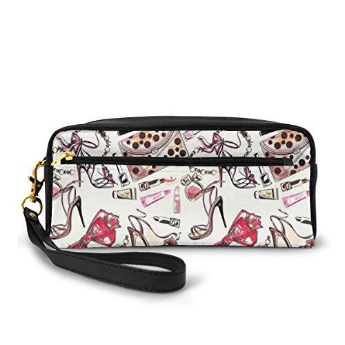 Pencil Case Pen Bag Pouch Stationair, Vrouwelijke Schoenen Lipstic Parfum Accessoire Fancy Items Voor Schoonheid Patroon Afbeelding, Kleine Make-up Tas Coin Purse