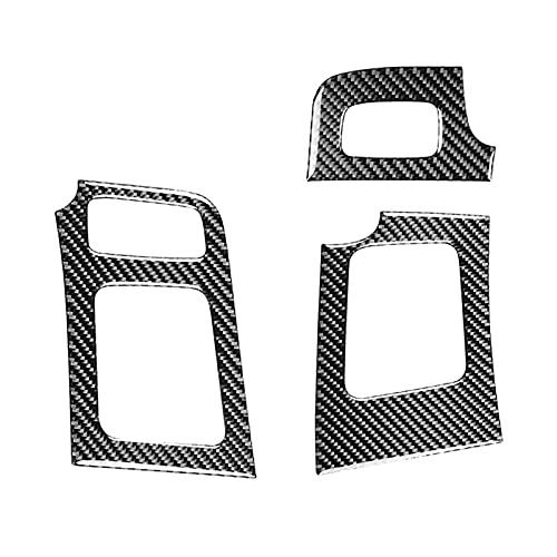 CMEI Ajuste para Toyota Prius 2012-2015 Tablero de Fibra de Carbono Dashboard Aire Acondicionador de ventilación Outlet Frame Tuber Accesorios Accesorios LHD