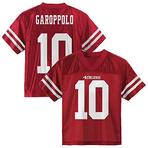 Jimmy Garoppolo San Francisco 49ers #10 Youth Player Name & Number Jersey Red (Youth Large 14/16)