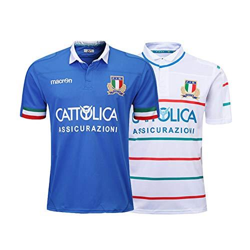 TIANM 2019-20 Italien Rugby-Trikot, klassisches Herren-Fußballtrikot-Poloshirt, Heimplatz- und Auswärts-Rugby-Trainingsuniform-Homecourt-L