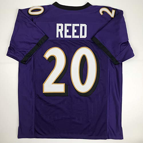 Unsigned Ed Reed Baltimore Purple Custom Stitched Football Jersey Size Men's XL New No Brands/Logos