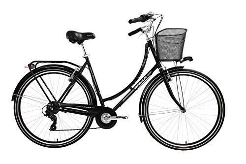 T 28 Zoll Damen City Rad Holland Fahrrad Bike CITYFAHRRAD DAMENFAHRRAD HOLLANDFAHRRAD HOLLANDRAD DAMENRAD Rad Bike Shimano 7 Gang Paradise S 2020 SCHWARZ