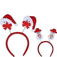 コスプレ クリスマスアイテム、デコレーション、大人の子供たちがプレゼントを飾る、サンタクロースのカチューシャ、雪だるま、カチューシャ wangyq (Color : D)