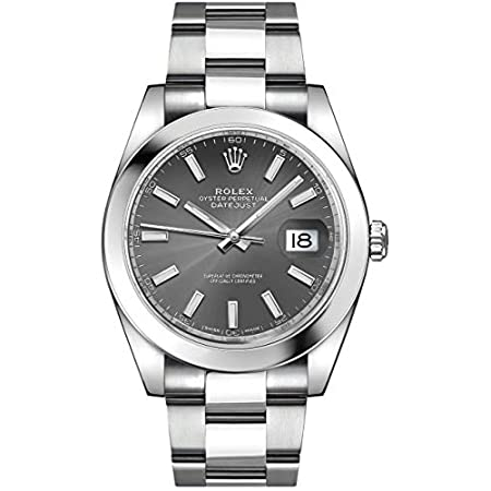 Fashion Shopping Men's Rolex Datejust 41 Dark Rhodium Dial Oystersteel Watch (ref. 126300)