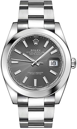 Men's Rolex Datejust 41 Dark Rhodium Dial Oystersteel Watch (ref. 126300)