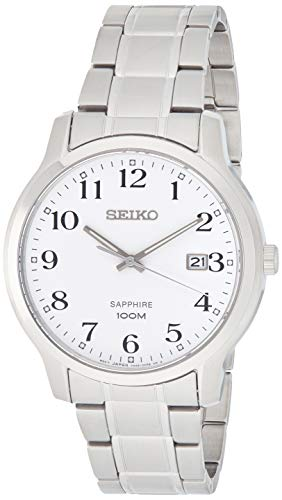 Seiko Herren Analog Quarz Uhr mit Edelstahl Armband SGEH67P1