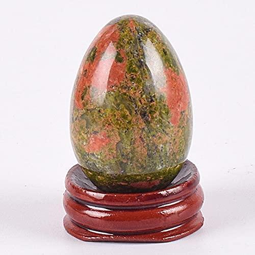 Yaseking Grande yoni huevo piedra natural curación jade cristal bola mineral kegel ejercicio herramienta pélvico suelo muscular vaginal cuidado de la salud masaje (Color : Unakite 45x30 mm)