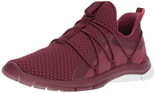 Reebok Women's Print Her 3.0 Lace Running Shoe, Rustic Wine/Twisted Berry, 5 M US