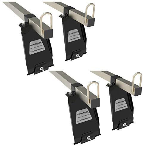 Barras de techo para furgoneta, para Land Rover Defender 110 – 4 barras, grado de construcción resistente