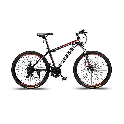 KaiKai 21 Geschwindigkeit Männer Mountain Bikes, High-Carbon Stahl Frau Mountainbike, Student Variable Speed Bike mit verstellbarem Sitz (Color : 21 Speed, Size : 24 inch)