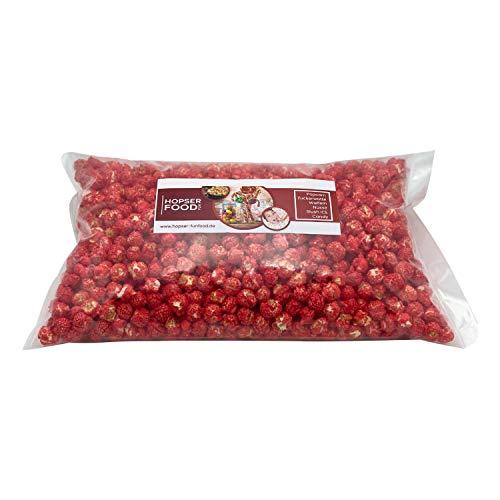 Süßes Mushroom Popcorn 1 kg in verschiedenen Varianten frisch Handgemacht in Brandenburger Popcorn Manufaktur (Rot Erdbeere)