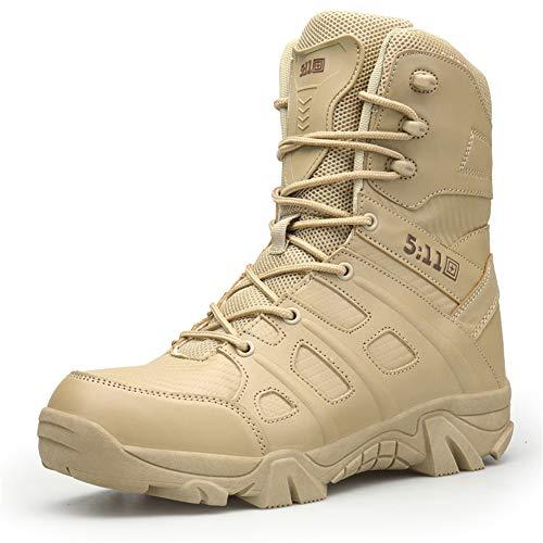 ailishabroy Botas Militares para Exteriores para Hombres Zapatos de Senderismo de Primavera y Verano Comando Botas de Nieve tácticas para el Desierto Impermeable y ponible