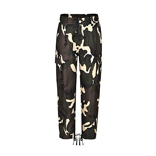 Ansenesna Damenhosen Damen ansenesna camouflage hose größen mit hohen taille cargo-beiläufige lange elegante beiläufige hose vintage-slim fit zy adh 188 l XX-Large