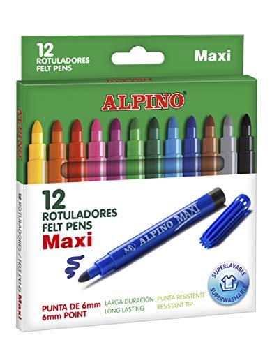 Alpino AR000006 - Estuche 12 rotuladores, Multicolor
